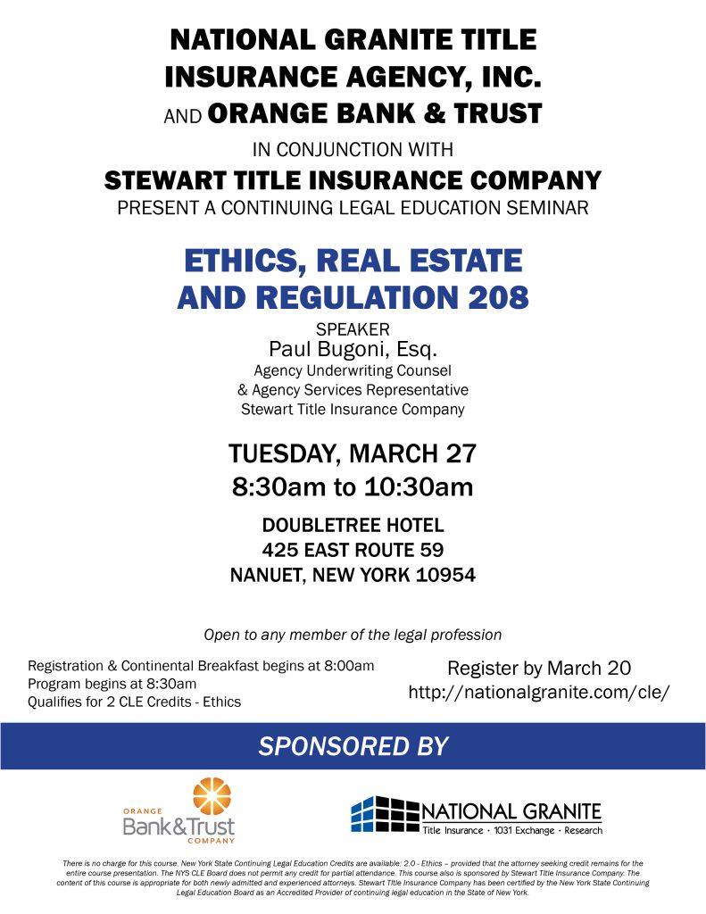 CLE March 27 2018 Stewart and Orange Bank flyer v3